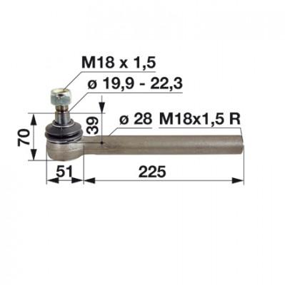 Kugelgelenk 3426313M1 zu Massey Ferguson