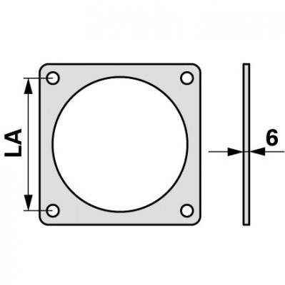 Flanschdichtung 4 bis 6 Zoll Bauer System