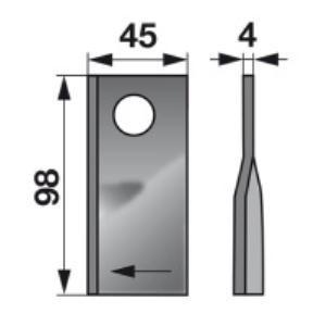 Kreiselmäherklingen rechts 40490005 zu Fort Trommelmäher