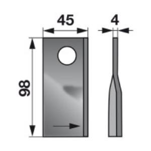 Kreiselmäherklingen links 40490006 zu Fort Trommelmäher
