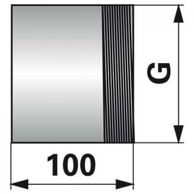 Gewindestutzen 3 Zoll x 100 mm, einseitiges Gewinde