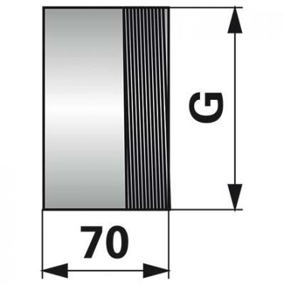Gewindestutzen 4 Zoll x 70 mm, einseitiges Gewinde