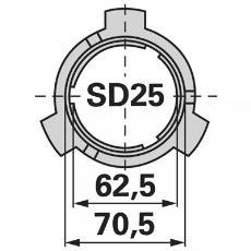 Gleitlagerring SD25 Walterscheid 1087276