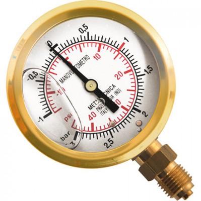 Glyzerin-Mano-Vakuummeter Ø 63 mm, Anschluss 1/4 Zoll