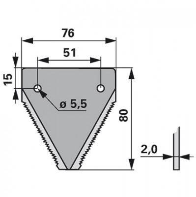 Gutbrod Mähmesserklinge gezahnt 25 Stück DIN80