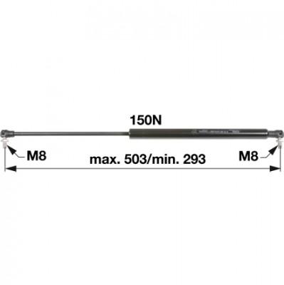 Gasdruckfeder H205.810.040.030 für Frontscheibe zu Fendt