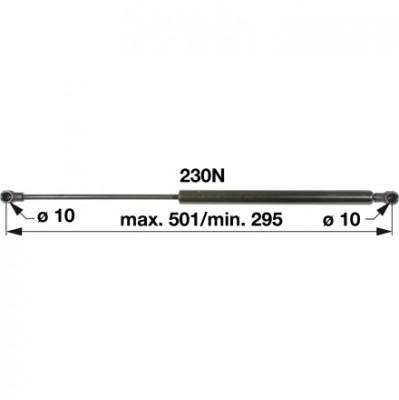 Gasdruckfeder H524.810.050.070 für Heckscheibe zu Fendt