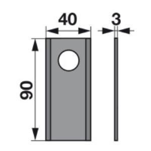 Kreiselmäherklingen 324.01.A22-3 zu Kemper-Klausing Trommelmäher