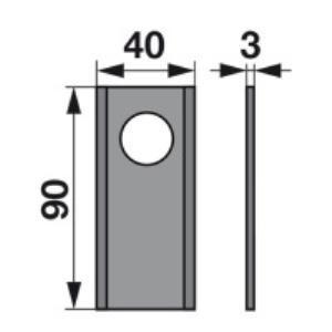 Kreiselmäherklingen 324.01.F22-3 zu Kemper-Klausing Trommelmäher