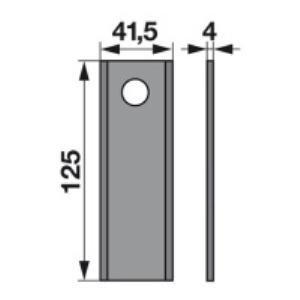 Kreiselmäherklingen 93Y03 zu Kemper-Klausing Trommelmäher