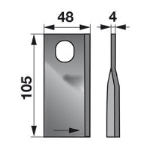 Kreiselmäherklingen links KT5514100001 zu Deutz-Fahr Scheibenm.