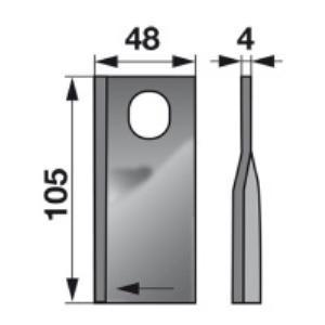 Kreiselmäherklingen rechts KT5514200001 zu Deutz-Fahr Scheibenm.