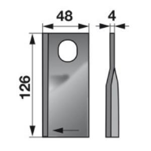 Kreiselmäherklingen rechts KT561104001 zu Deutz-Fahr Scheibenmäh