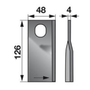 Kreiselmäherklingen links KT561109001 zu Deutz-Fahr Scheibenmähe