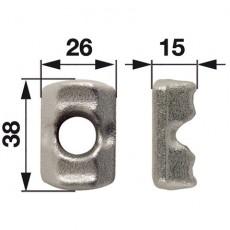 Klemmstück lose Ø 12,5 mm