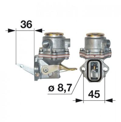 Kraftstoff-Förderpumpe - Dieselpumpe 4757883 zu Fiat