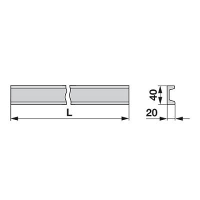 Universal Kratzbodenleiste 40 x 20, 1600 mm