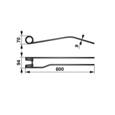 Kreiselschwaderzinke rechts VF16624404.86 zu Vicon - PZ