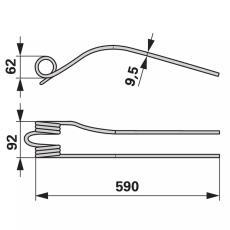 Kreiselschwaderzinken außen 153661.0 zu Krone