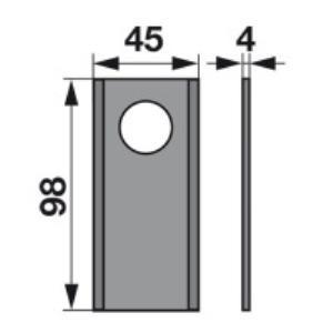 Kreiselmäherklingen 1717782M1 zu Massey Ferguson Trommelmäher