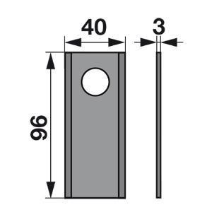Kreiselmäherklingen MT452S zu Vicon-PZ Scheibenmäher