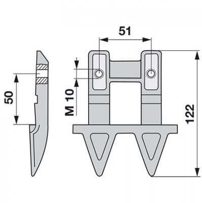 Aebi Doppelmulchfinger AM24071.01