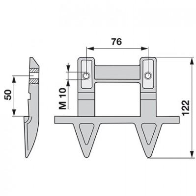 Aebi Doppelmulchfinger AM24072.01 ( Made in Germany )