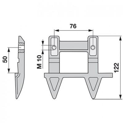 Aebi Doppelmulchfinger rechts AM27138.01