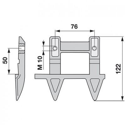Aebi Doppelmulchfinger links AM27139.01