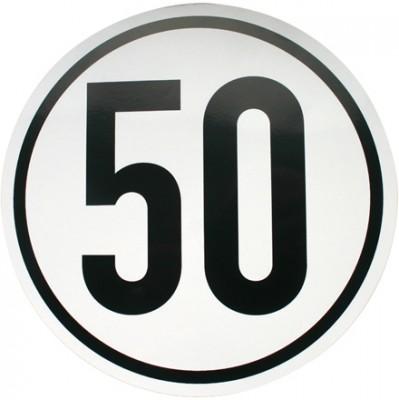 Selbstklebefolie 50 km/h