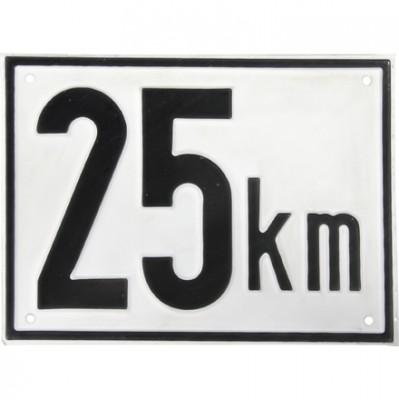 Beschränkungstafel 25 km