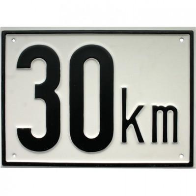 Beschränkungstafel 30 km