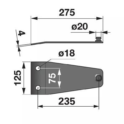 Messerhalter PZ0116K0 zu Deutz-Fahr Trommelmäher