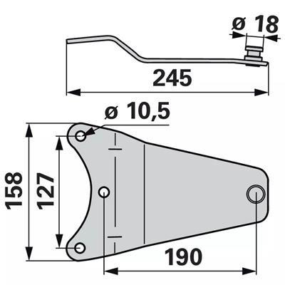 Messerhalter YA0336K0 zu Deutz-Fahr Trommelmäher