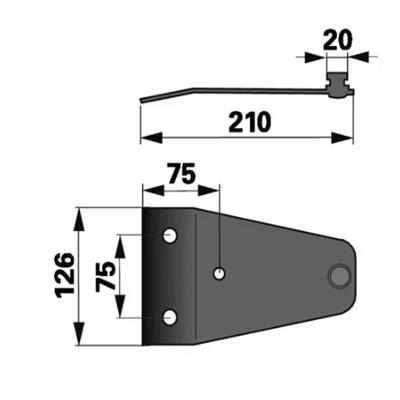 Messerhalter PZ0243K0 zu Deutz-Fahr Trommelmäher