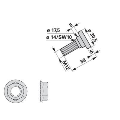 Messerhalteschraube 253044.3 zu Krone Scheibenmäher