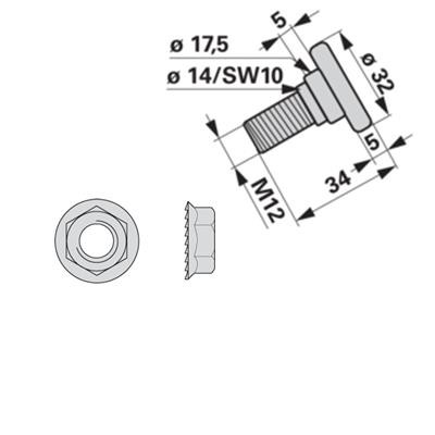 Messerhalteschraube 253744.0 zu Krone Scheibenmäher