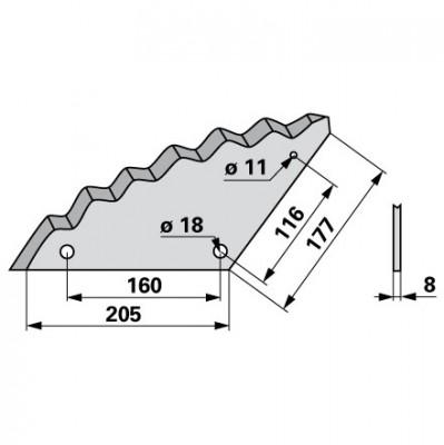 Mischwagen - Mischwagenmesser zu Trioliet
