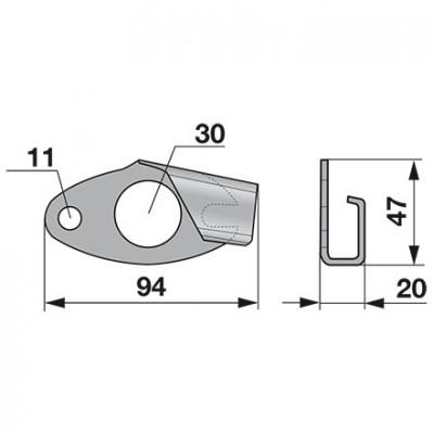 Mörtl Sicherungshaken V1260