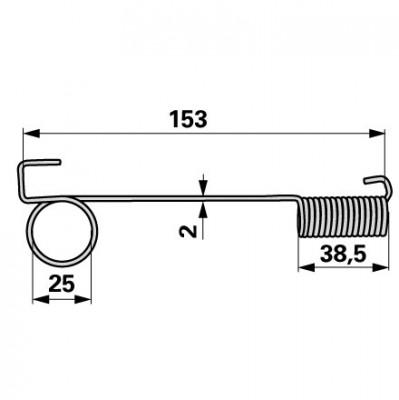 Mörtl Zugfeder 155 mm N41N
