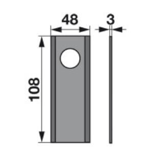 Kreiselmäherklingen 108D zu Morra Trommelmäher