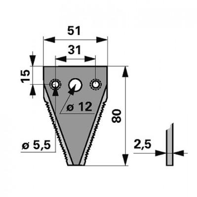 Mähmesserklinge 3-Loch zu Moty-Mayer