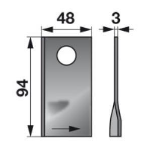 Kreiselmäherklingen links 570409 zu Niemeyer Trommelmäher