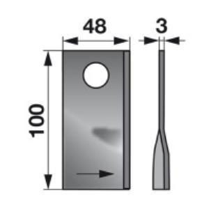 Kreiselmäherklingen links 570413 zu Niemeyer Trommelmäher