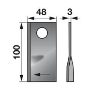 Kreiselmäherklingen rechts 570414 zu Niemeyer Trommelmäher