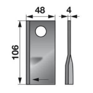 Kreiselmäherklingen rechts 570444 zu Niemeyer Trommelmäher