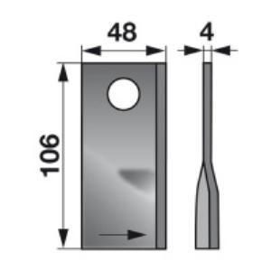 Kreiselmäherklingen links 570445 zu Niemeyer Trommelmäher