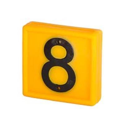 Nummernblock Standard 10 Stück Ziffer 8 gelb
