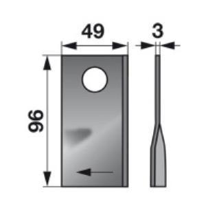 Kreiselmäherklingen rechts 434.980 Pöttinger Trommelmäher