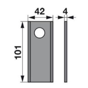 Kreiselmäherklingen RS44.0374.67 zu Rasspe Trommelmäher